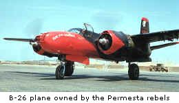 B-26 plane owned by the Permesta rebels